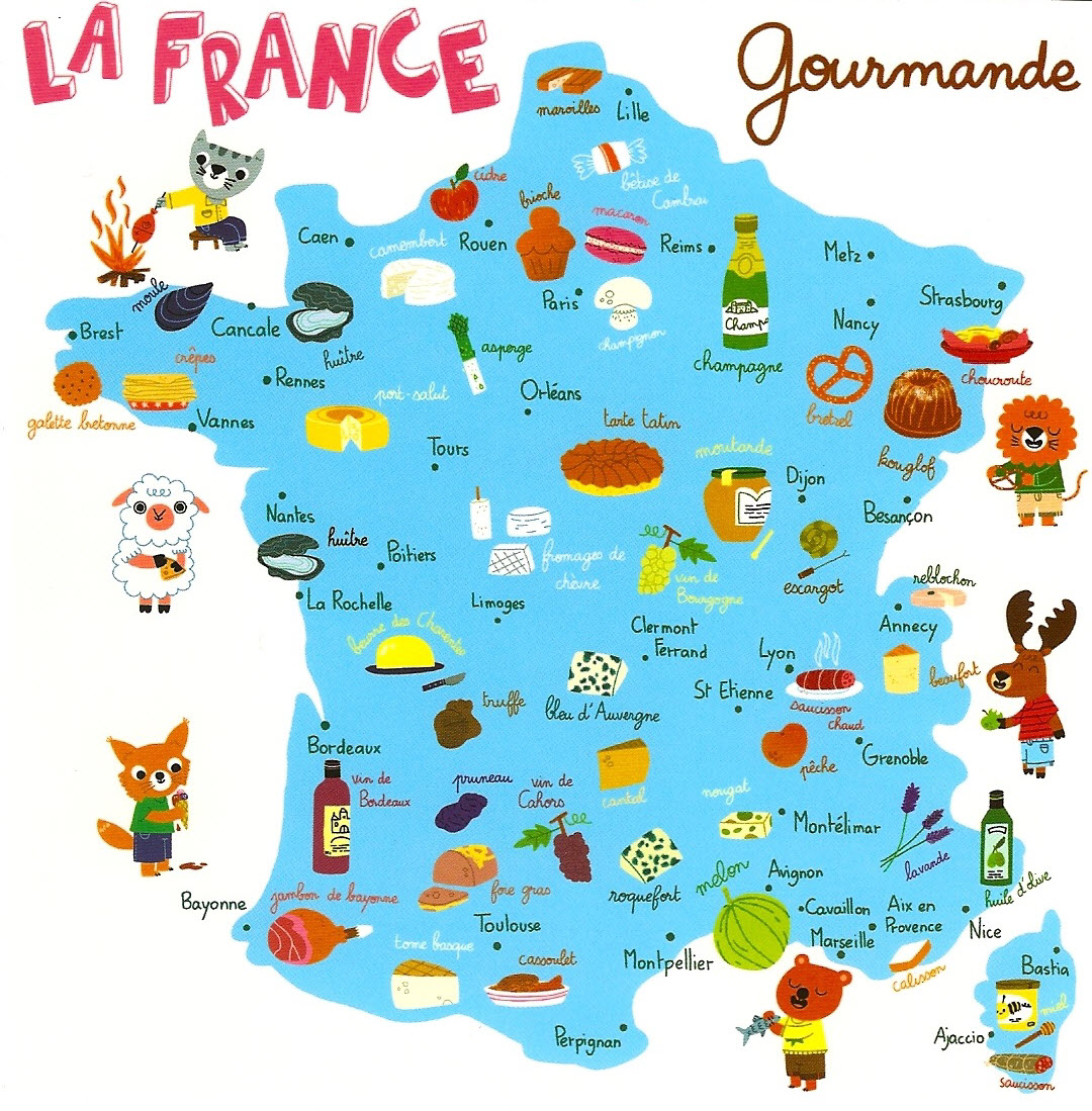 La carte de france des sp cialit s gastronomiques blog - Office de tourisme guadeloupe en france ...