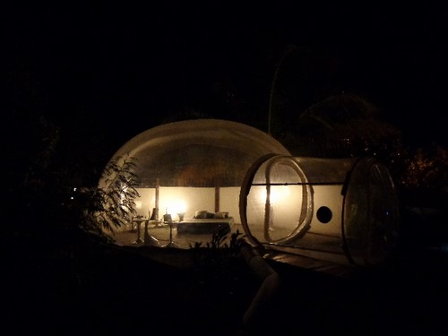 glamping dans une bulle