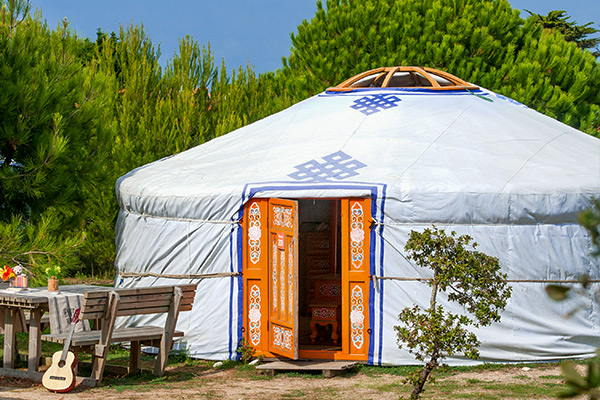 Yurt sleeps 4